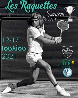 🏆 𝘚𝘦𝘯𝘪𝘰𝘳𝘴 𝘢𝘳𝘦 𝘣𝘢𝘤𝘬 🏆  🔺𝐋𝐞𝐬 𝐑𝐚𝐪𝐮𝐞𝐭𝐭𝐞𝐬 𝐒𝐞𝐧𝐢𝐨𝐫𝐬 𝐂𝐮𝐩 , 𝐆𝐫𝐚𝐝𝐞 𝟑 , 𝟏𝟐/𝟕-𝟏𝟕/𝟕 🗓 H Les Raquettes Tennis Academy θα διοργανώσει στις 12 έως 17 Ιουλίου 2021,  διεθνές βαθμολογούμενο τουρνουά βετεράνων (ανδρών και γυναικών) , ηλικίας από 30 ετών και πάνω!! 🚶🏻♂️Αθλητές υψηλού επιπέδου από όλο τον κόσμο θα δώσουν το παρόν και αναμένονται  να πραγματοποιηθούν παιχνίδια πολύ υψηλού επιπέδου και ενδιαφέροντος! 🖌 Για δήλωση συμμετοχής και περισσότερες πληροφορίες:  https://www.itftennis.com/en/itf-tours/seniors-tennis-tour/  https://www.itftennis.com/en/tournament/itf-s200-thessaloniki-les-raquettes-/gre/2021/s-s200-gre-05a-2021/ ☎️ 2310473508 #seniors #itf #seniorstennis #tennistournament #tournament #tennis #skg #greece #thessaloniki #lesraquettes #lesraquettestennisacademy #lesraquettestennisclub #tennisclub #cup #july #seniorscup #tennislife